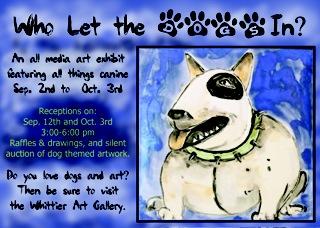 dog postcard front